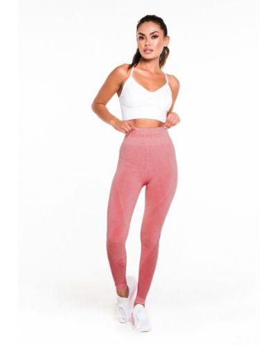 Розовые облегающие леггинсы на резинке Gym Hero