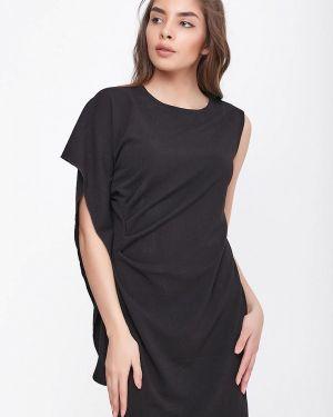 Платье прямое черное Sfn