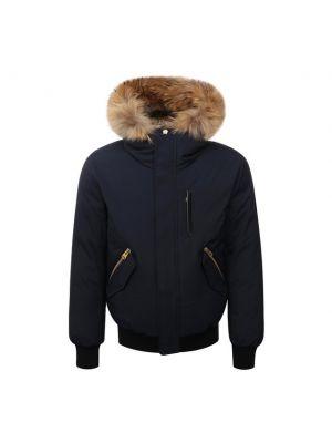 Синяя куртка с воротником Mackage
