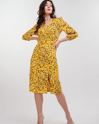 Повседневное платье миди - желтое Arjen