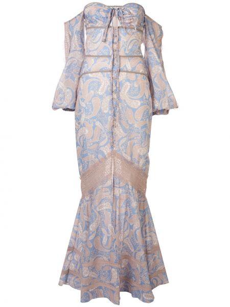 Открытое приталенное платье макси с открытой спиной на молнии We Are Kindred