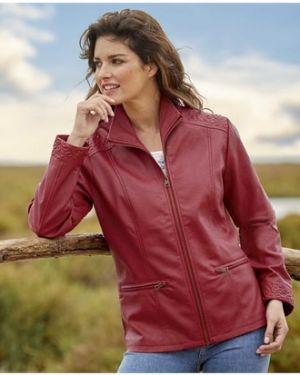 Кожаная куртка утепленная на молнии Atlas For Men