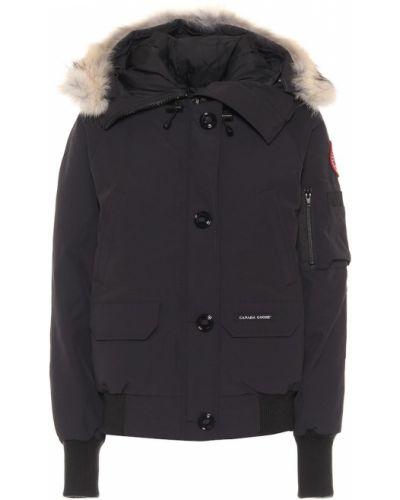 Ватная черная пуховая куртка Canada Goose