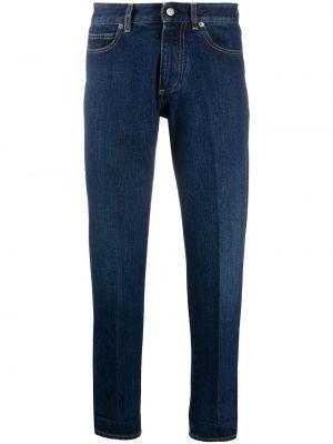 Желтые джинсы классические с поясом с заплатками Golden Goose