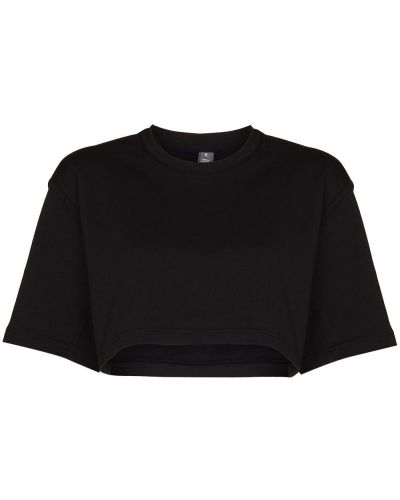 Черная футболка с короткими рукавами Adidas By Stella Mccartney
