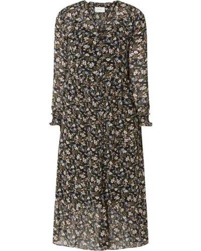 Czarna sukienka rozkloszowana z falbanami Neo Noir