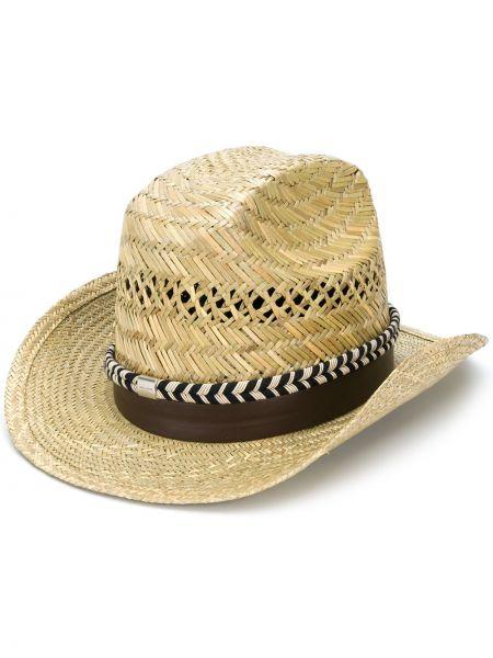 Шляпа с широкими полями шляпа-федора плетеная Saint Laurent