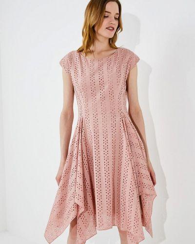 Повседневное платье весеннее розовое Hugo Hugo Boss