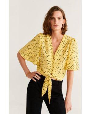 Блузка с V-образным вырезом с завязками Mango