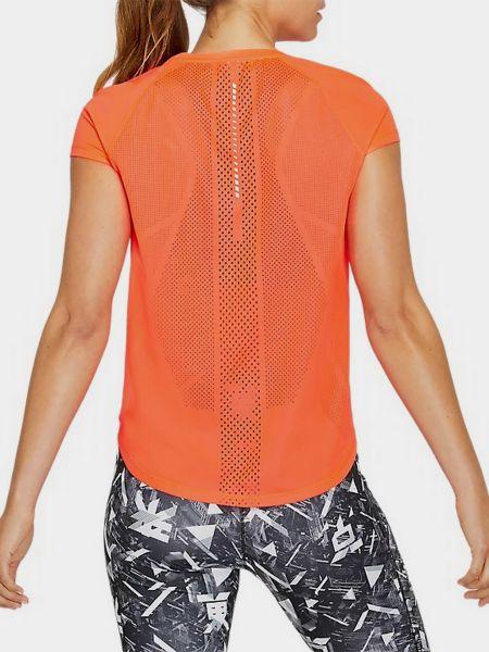 Футболка сетчатая - оранжевая Asics