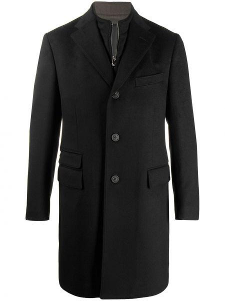 Długi płaszcz wełniany kurtka grochowa Corneliani