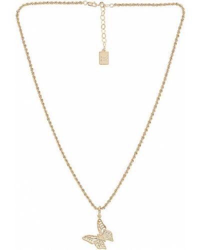 Ожерелье золотое металлическое с бабочкой Miranda Frye
