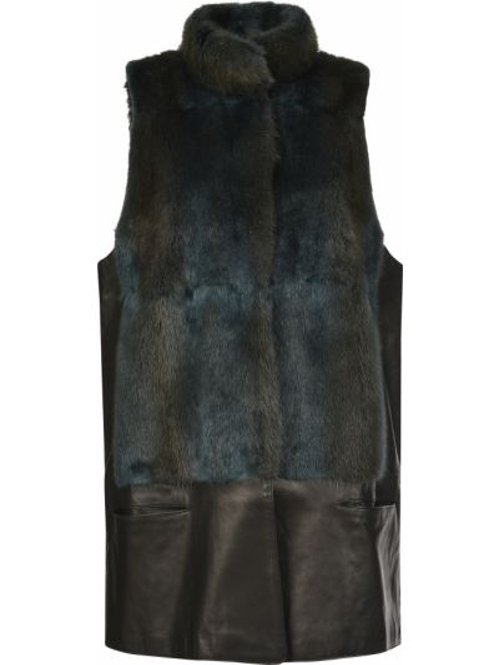 Черная кожаная жилетка Ca' Vagan