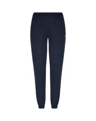 Хлопковые синие компрессионные мягкие спортивные брюки Fila