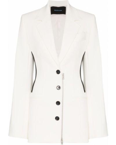 Черный приталенный удлиненный пиджак с карманами Mugler