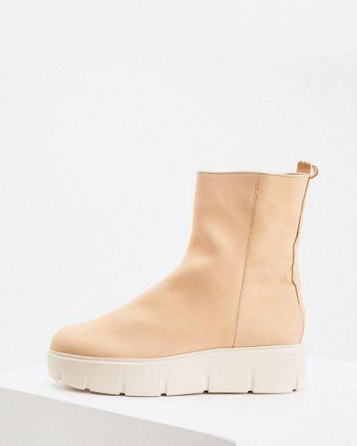 Бежевые зимние ботинки Hogl
