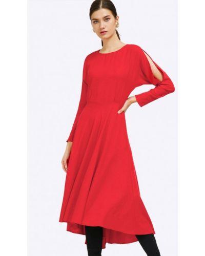 Вечернее платье красный осеннее Emka