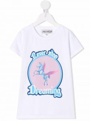 Biała koszulka z printem Simonetta