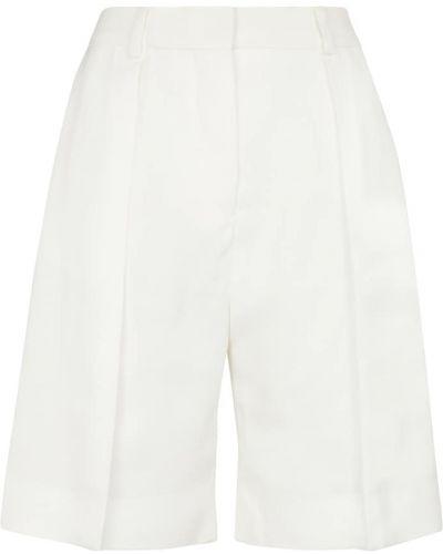 Теплые белые шорты из вискозы Victoria Victoria Beckham