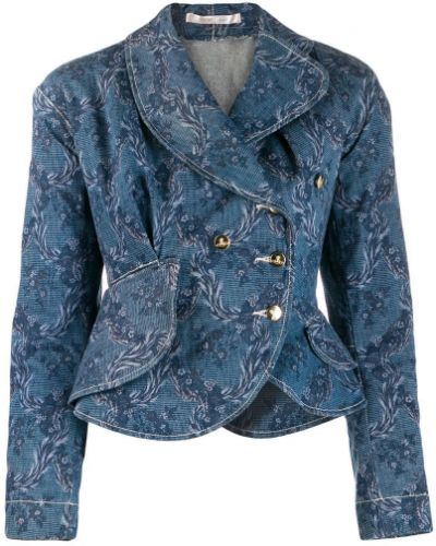 Приталенная синяя джинсовая куртка на пуговицах Vivienne Westwood Pre-owned