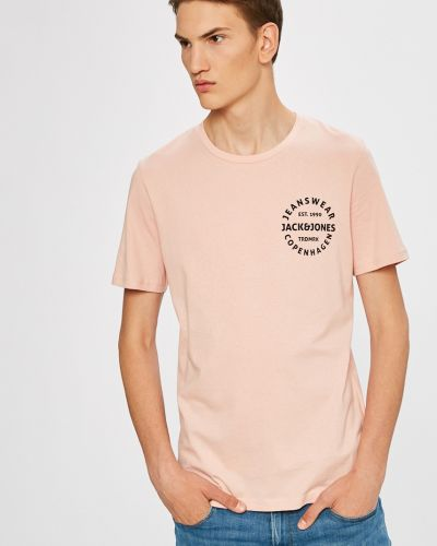 Розовая футболка Jack & Jones