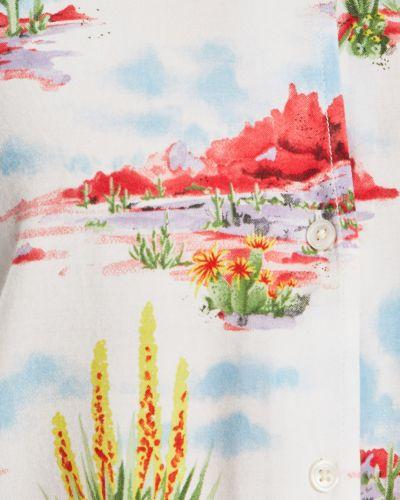 Блузка с коротким рукавом из вискозы белая Wrangler