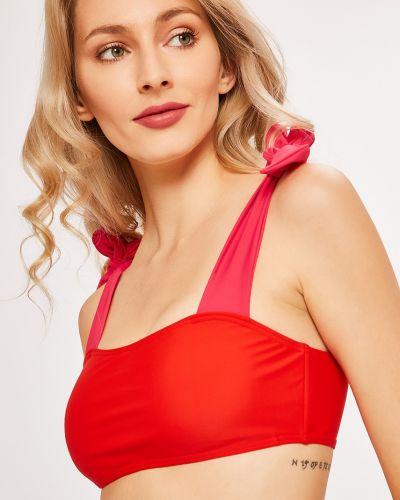 Купальник красный из плотной ткани Vero Moda