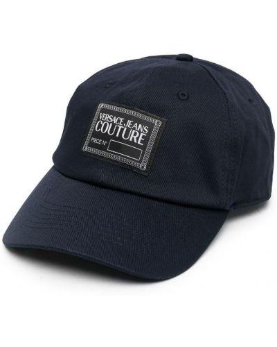 Niebieski kapelusz Versace Jeans Couture