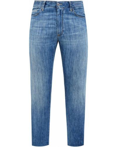 Хлопковые зауженные брюки с поясом Cortigiani