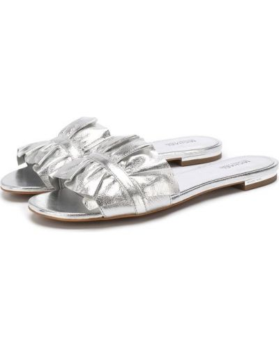 Шлепанцы серебряного цвета Michael Michael Kors