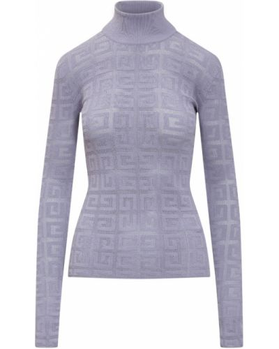 Sweter koronkowy - fioletowy Givenchy