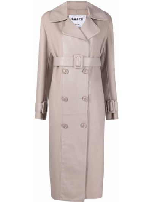 Розовое пальто из полиэстера S.w.o.r.d 6.6.44