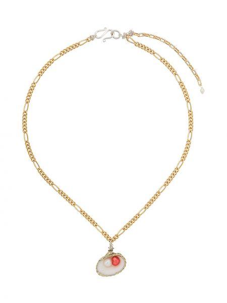 Złoty naszyjnik perły Wald Berlin