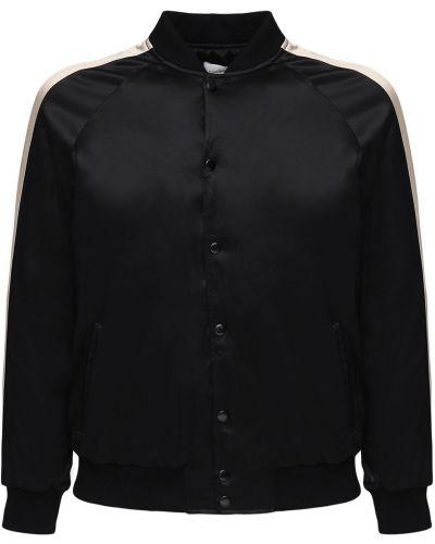Czarna kurtka z haftem z raglanowymi rękawami Flaneur Homme