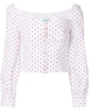 Блузка с принтом - белая Jovonna