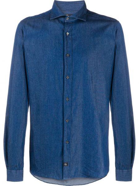 Koszula z długim rękawem dżinsowa długa Fay