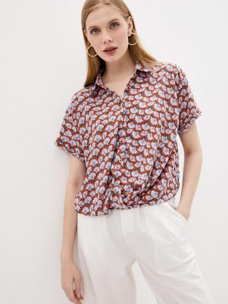 Блузка с коротким рукавом красная осенняя Sweewe