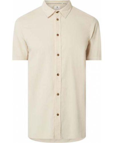 Beżowa koszula krótki rękaw bawełniana Anerkjendt