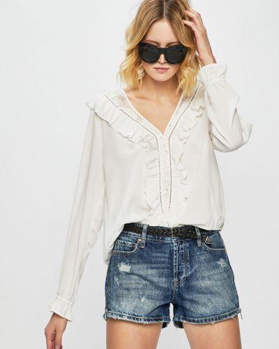 Блузка однотонная с V-образным вырезом Trussardi Jeans