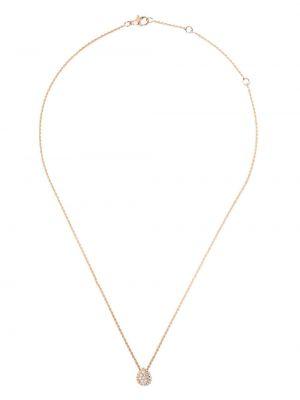 Ażurowy złoty naszyjnik z diamentem Boucheron