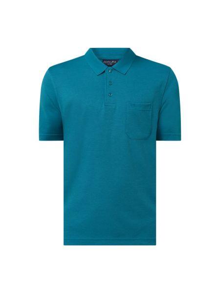 T-shirt bawełniana - turkusowa Christian Berg Men