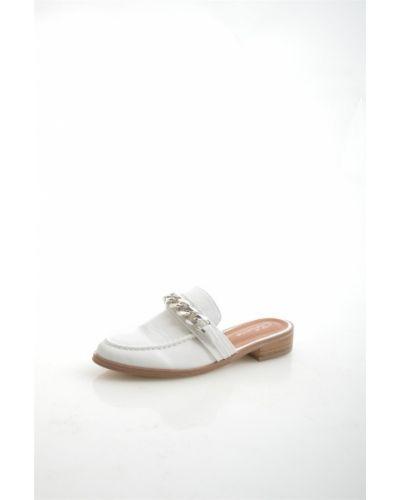 Сабо белые на каблуке Bellamica