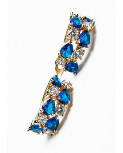 Синие серьги удлиненные Patricia Bruni
