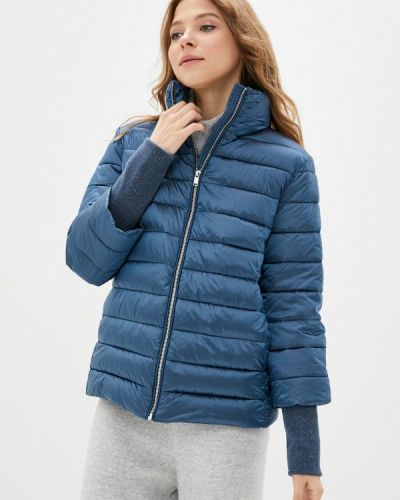 Утепленная синяя куртка снежная королева