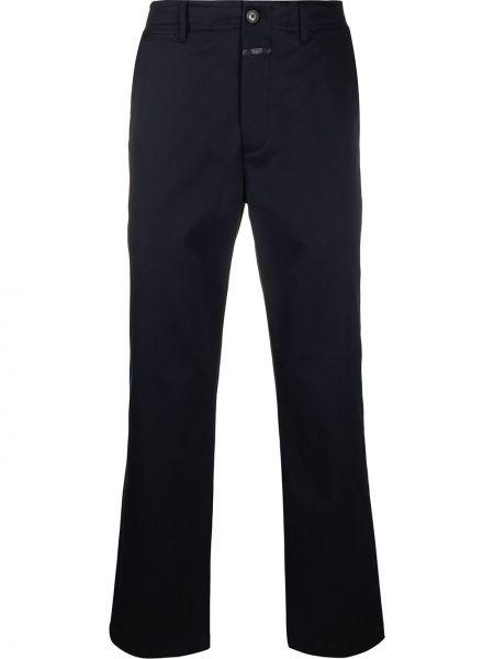 Прямые брюки с карманами на молнии новогодние закрытые Closed