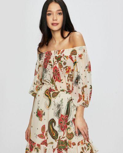 Платье мини с открытыми плечами с поясом Liu Jo