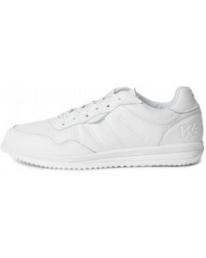 Белые кожаные классические кроссовки на шнуровке Kappa
