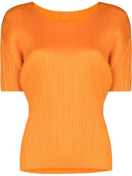 Топ - оранжевый Pleats Please Issey Miyake