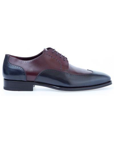 Кожаные туфли итальянские на шнуровке Stefano Ricci