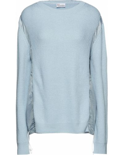 Шерстяной свитер - синий Redvalentino